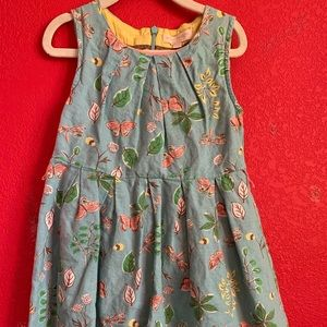 Mini Boden light blue butterfly dress 4-5 years